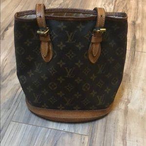 Vintage, authentic Louis Vuitton bucket bag